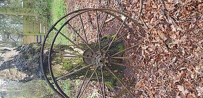 large iron wheels x2