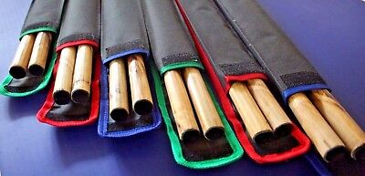 2 Escrima Kali Arnis Karate Fighting Rattan Sticks Set with skin & Carry Bag