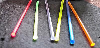 4 Fiberoptic replacement sight fiber optic rods .060 1.5mm 4 colors neon truglo - Fiber Optic Colors