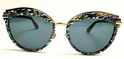 9e38658b0cf48 New Christian Dior OFFSET 2 9N7 2K Yellow Blue Tweed Pattern Black Grey 55mm
