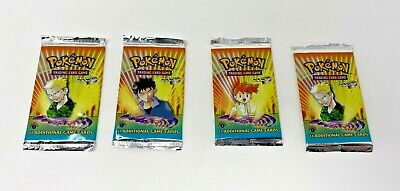 Wizards of the Coast Pokemon Gym Heroes 1st Edition Booster Pack