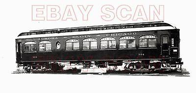 8H712 2NDGEN 1910s/1940s AURORA ELGIN & CHICACO ELECTRIC RAILWAY CAR #314