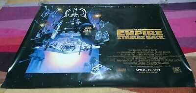 The Empire Strikes Back Cinema Quad Poster ORIGINAL Excellent Condition Rolled