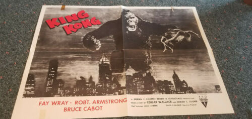 KING KONG  POSTER 1956-R  FAY WRAY ROBT ARMSTRONG BRUCE CABOT