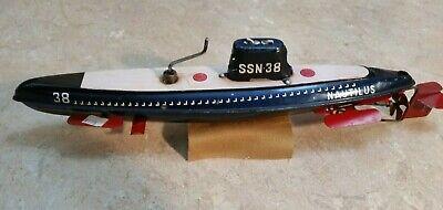 Nautilus SSN-38 Friction Submarine Tin Toy made in Japan