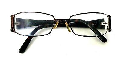 - Auth Fendi Women Brown Tortoise Metal Eyeglass Reading Glasses Rectangular Frame