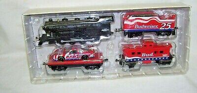 1996 Budweiser 5-piece Train Set HO Scale Diecast NIB Hendrick Motorsport