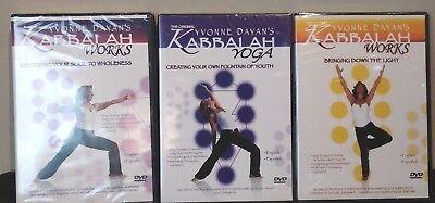 Kabbalah Yoga Works Dvd W  Yvonne Dayans  Set Of 3  New Sealed