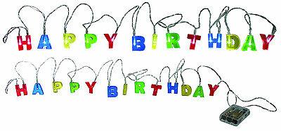 1 x Lichterketten Lichterkette Happy Birthday 2 m mit 15 LED Geburtstag Girlande