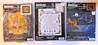 Janlynn Counted Cross Stitch Lot - Harvest Basket - The King Above- I shall Wear