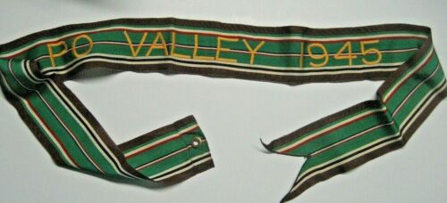 /US Army Standard Campaign Streamer PO VALLEY 1945,Italy
