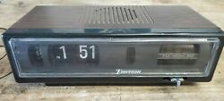 Vintage EMERSON R5004 Flip Rolling Clock Alarm AM FM Radio Fully Functional
