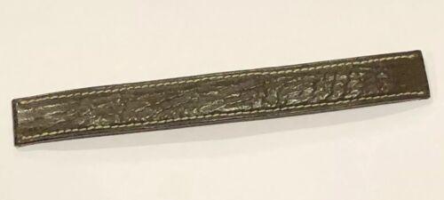 Bracelet pour montre poiray en cuir requin marron 15 mm largeur @ strap 130 mm
