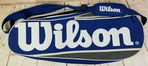 "Wilson Multiple Tennis Racket Cover Bag Royal Blue, White & Gray 28""Lx11""Wx3""D"