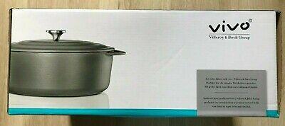 Villeroy and Boch Vivo 29cm Cast Iron Casserole 4.8L Ovenproof Pot -...