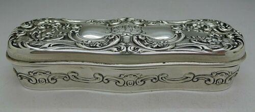 GORHAM c.1900 STERLING SILVER ART NOUVEAU BOX GILT INTERIOR LOWEST PRICE