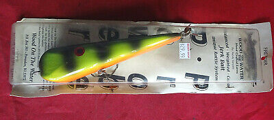 """AN OLD SHOP STOCK 7"""" WOOD ON THE WATER POWER PROBE JERK BAIT FOR BIG PIKE/MUSKY"""