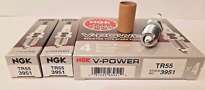 6 NGK SPARK PLUGS TR55 3951 V POWER