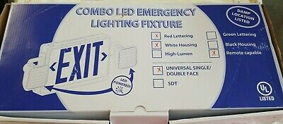 Remote Capable Combo Led Emergency Exit Signfixture Combo