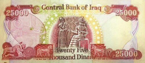 IRAQ 4 x 25000 = 100000 NEW DINARS IRAQI IQD-CERTIFIED!