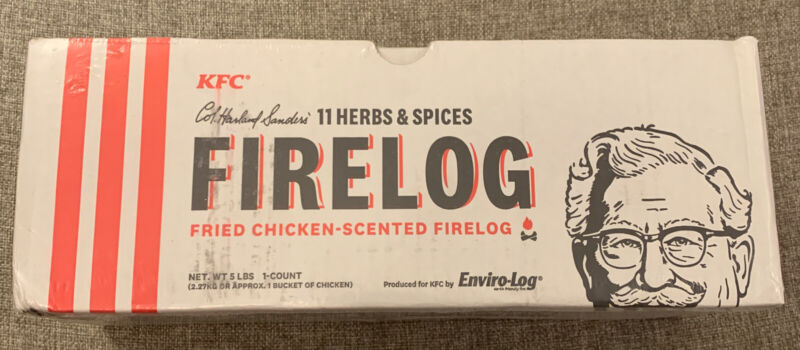 Lot Of 2 KFC 11 Herbs Spices Fire Logs  Chicken Scented Limited Edition