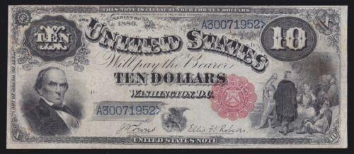US 1880 $10 Legal Tender Jackass FR 113 VF (-952)