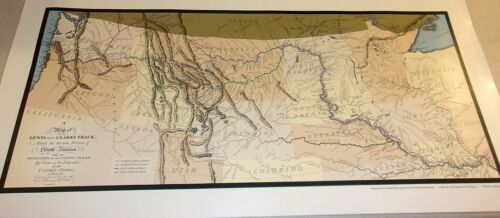 LEWIS & CLARK MAPS Of 1804, 5 &6 American Philosophical Society Reproductions