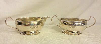 Vintage Sterling silver Creamer and Sugar bowl 121 grams, Not weighted