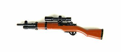 M1 Garand with scope (W166) WW2 US Rifle compatible w/toy brick minifig for sale  Atlanta