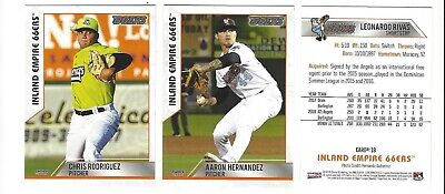 Inland Card (2019 INLAND EMPIRE 66ERS TEAM SET COMPLETE MINORS HIGH A LOS ANGELES)