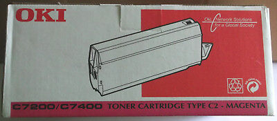 7400 Magenta Toner (Oki Toner für C7200 / C7400 - Magenta -Typ C2)
