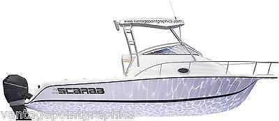 Logo Decal for Scarab Boats- Mako, Yamaha, Wellcraft and others available