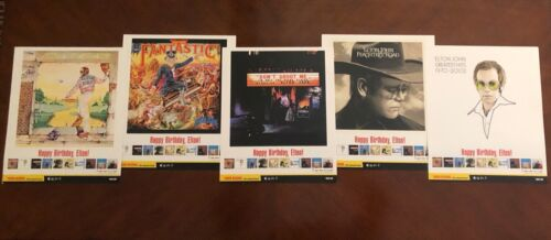 "Elton John Vintage Tower Records Promo Posters - Lot of 5 [each 11"" x 13""]"