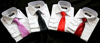 Krawatte, Weißes Hemd (Jungen Kinder Hemd mit Krawatte langarm weiß 80 86 98 104 110 116 128,170 NEU)