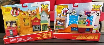 Disney Pixar Toy Story Western Adventure & Andy's Room Minis Playset NEW!!!