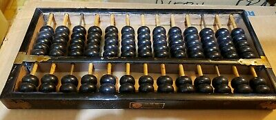 Lotus-Flower Brand Abacus 13 Rods: 11 Wood & 2 Metal 91 Wood Beads China
