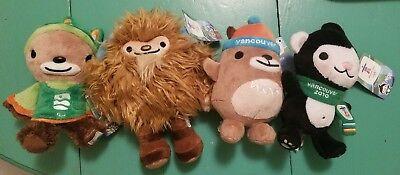 Vancouver 2010 Olympics Paralympics Mascots Mukmuk Miga Quatchi Sumi Plush Toys for sale  Orangeburg