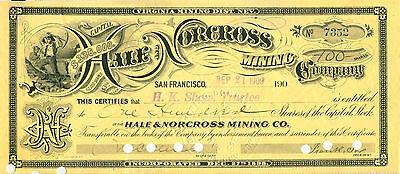 Hale and Norcross Mining 1909 - Sammlerstück