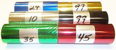 Kingsley Howard Hot Stamp Stamping Machine Foil - 6 Roll Pk - 3 X 95 70 Colors