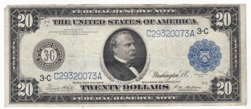 $20 1914 Federal Reserve Note Philadelphia Fr#975 a White/Mellon VF/XF Very Fine