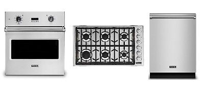 """Viking Professional Kitchen Package - 36"""" Cooktop, 30"""" Oven & FREE Dishwasher"""