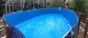 24 x 12 oval above ground pool 'Sun-soaker' with accessories Tyabb Mornington Peninsula Preview
