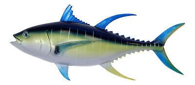 Sport Fishing Replica Blue Fin Tuna Wall Decor Plaque 18 Inches ()