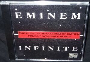EMINEM-INFINITE-2009-REISSUE-NEW-SEALED-OFFICIAL-CD-PROOF-KON-ARTIST