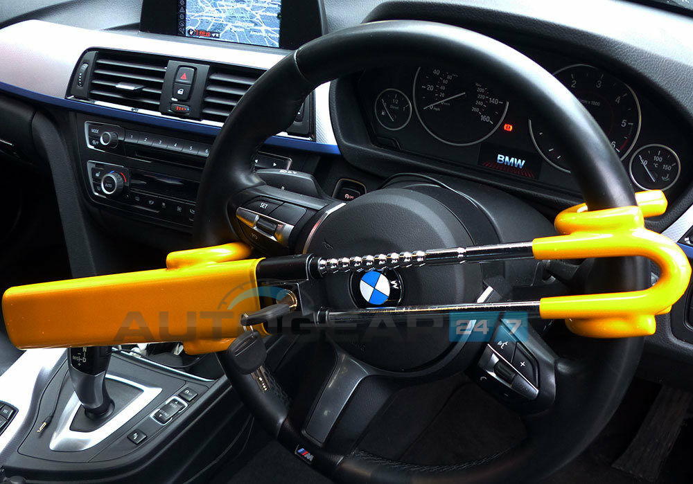 hook lock car van steering wheel security crook anti crook theft device extends