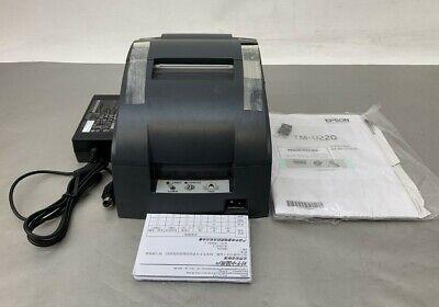 Epson Tm-u220b Usb Receipt Printer C31c514a8051 7130-0024-8801 No Accessories