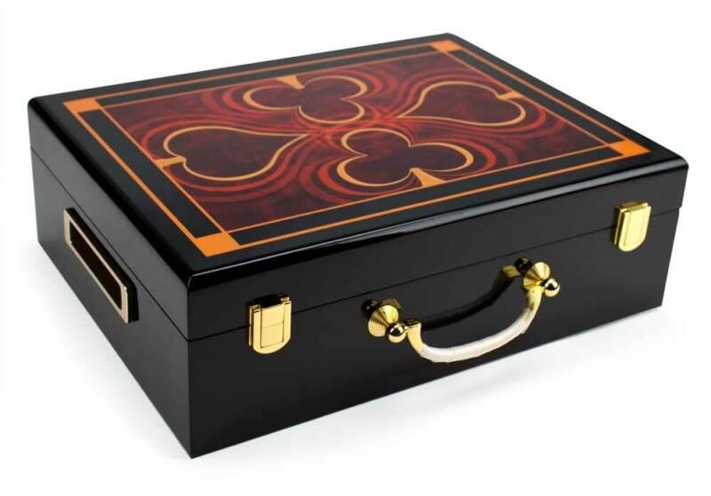 500 Ct Hi-Gloss Wooden Case Cas-500G