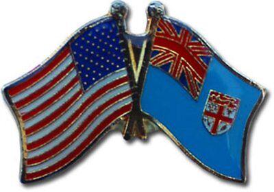 Wholesale Pack of 50 USA American Fiji Flag Hat Cap lapel Pin