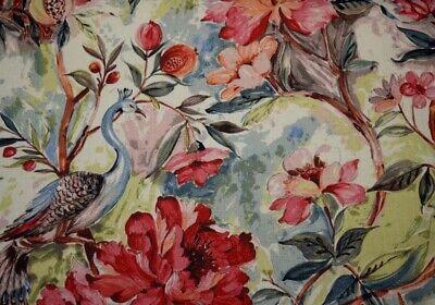 Peacock Tropical Floral Print Kingsway Jewel Hamilton Fabric