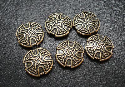 Conchos Set of 6 ANTIQUE BRASS